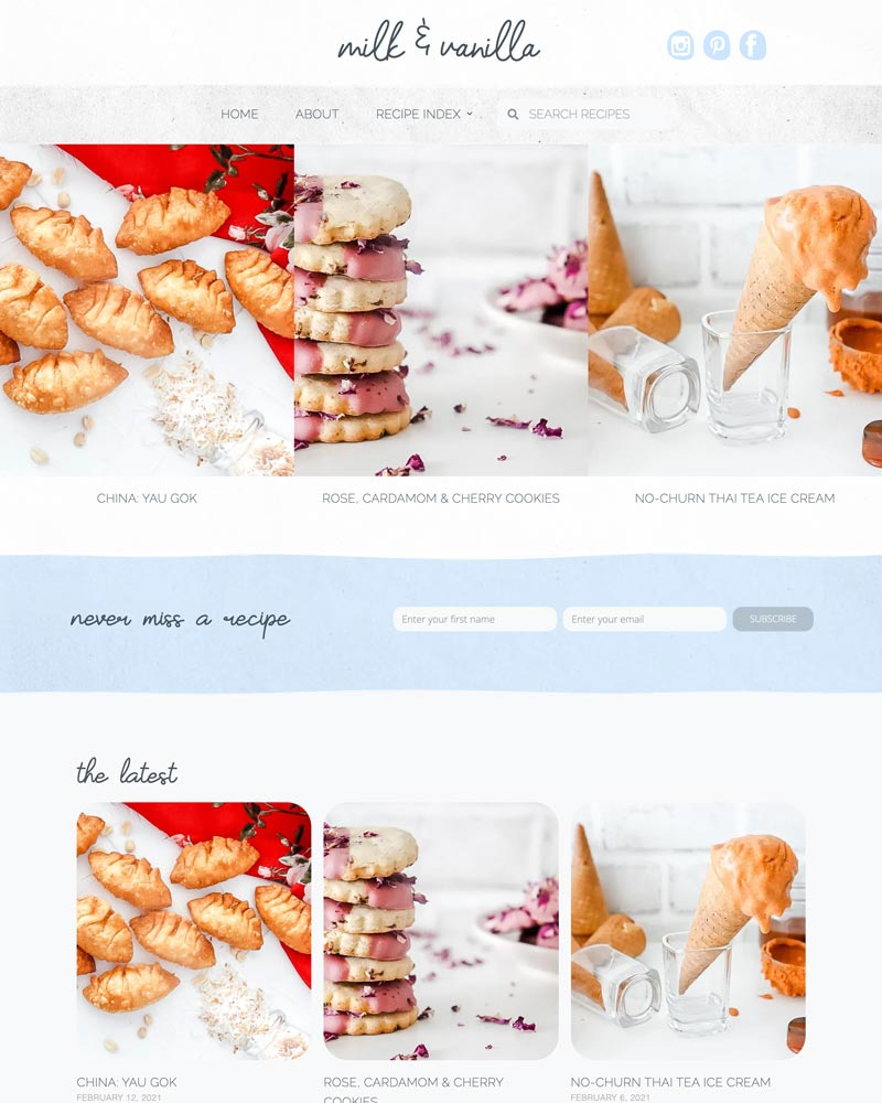 food-blog-recipe-web-design-edmonton-calgary
